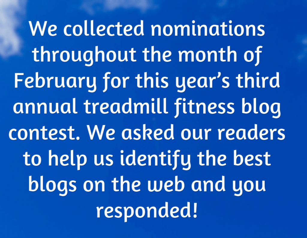 2015 treadmill blog contest