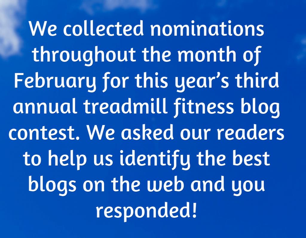 2015 treadmill blog contest