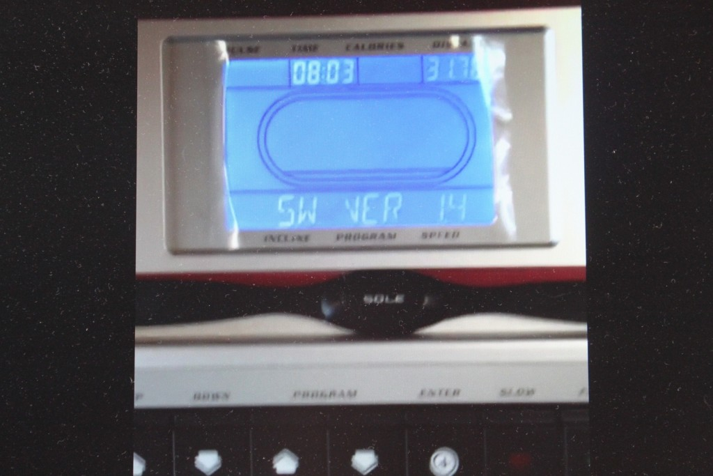 sole f63 treadmill lcd display