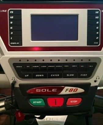 sole f80 treadmill console II